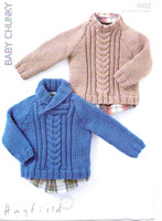 Boys Sweaters Chunky Patterns | Sirdar Hayfield Baby Chunky 4402