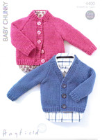 Childrens Simple Cardigans Patterns | Sirdar Hayfield Baby Chunky 4400 - Main Image