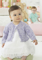 Babies / Girls Single Button Cardigan DK Pattern | Sirdar Snuggly Baby Speckle DK 1360