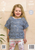 Girls Tassle Sweaters Chunky Patterns | King Cole Opium 3750