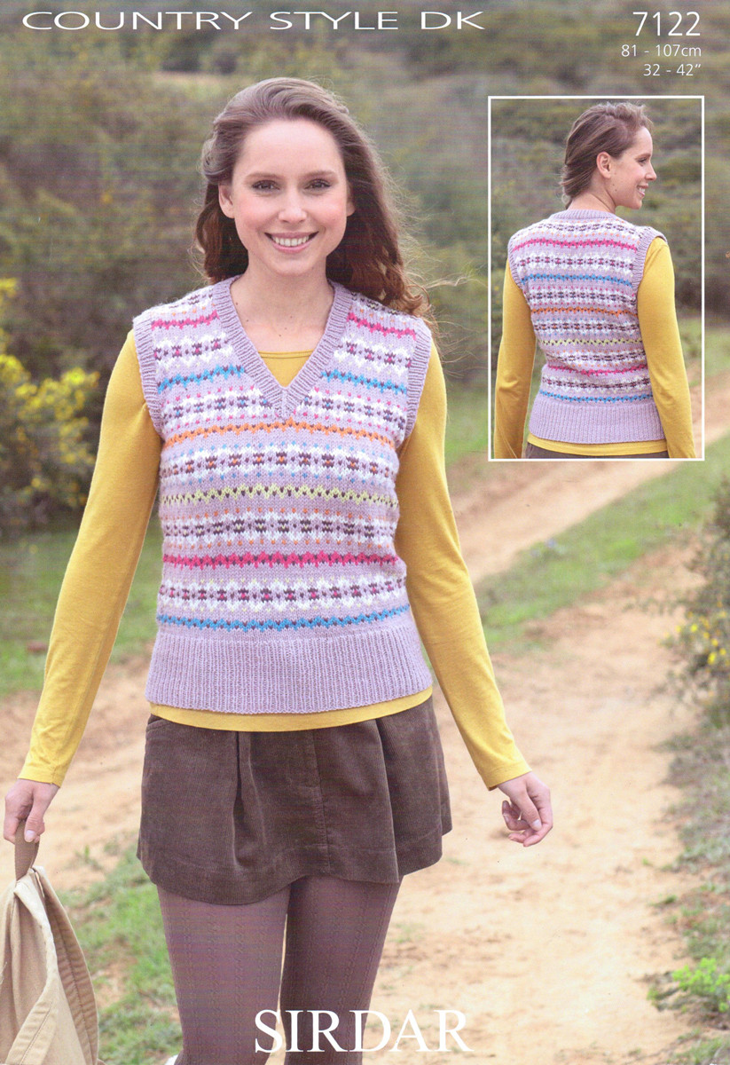 5bf681226d02c Sirdar Country Style DK 7122 Knitting Pattern. Loading zoom