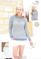 Open Work Boat Neck Top DK Knitting Pattern | Sirdar Ella 9781