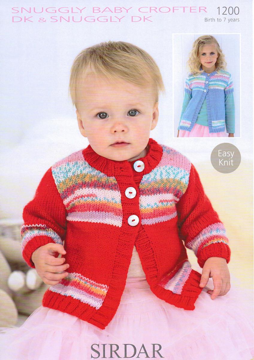 96c12724a740 Baby   Girls Swing Cardigan Pattern