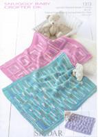 Baby Blankets Pattern in Sirdar Snuggly Baby Crofter DK - 1313