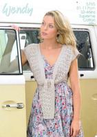 Tie Front Shrug Pattern | Wendy Supreme Cotton 4 Ply 5765