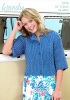 Cropped Cabled Cardigan Pattern | Wendy Supreme Cotton Chunky 5776