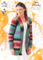 Cabled Cardigan & Waistcoat Chunky Pattern | King Cole Riot Chunky 3959
