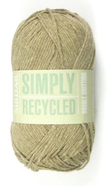 Sirdar Simply Recycled DK in 50g Balls - Shade Clay 13
