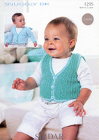 Baby / Childrens Jacket, Cardigan & Waistcoat Crochet Pattern | Sirdar Snuggly DK 1295