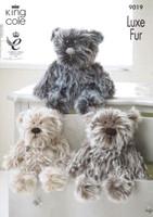 Teddy Knitting Pattern - 9019 | King Cole Luxe Fur