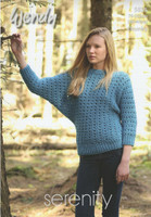 Ladies Batwing Sweater Chunky Pattern | Wendy Serenity Chunky 5835