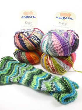 Adriafil Knitcol Self Patterning Knitting Yarn, 50g Balls - Main image