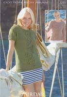 Sirdar Cotton Rich Aran Pattern for Womens Sweaters - 7271
