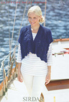 Sirdar Cotton Rich Aran Pattern for Fan and Tail Cardigans - 7276