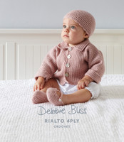 Baby Jacket, Beanie and Shoe Crochet Pattern | Debbie Bliss Rialto 4 Ply