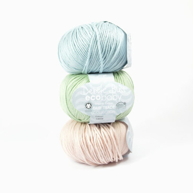 Eco Baby 100% fair trade organic 4 ply cotton yarn by Debbie Bliss