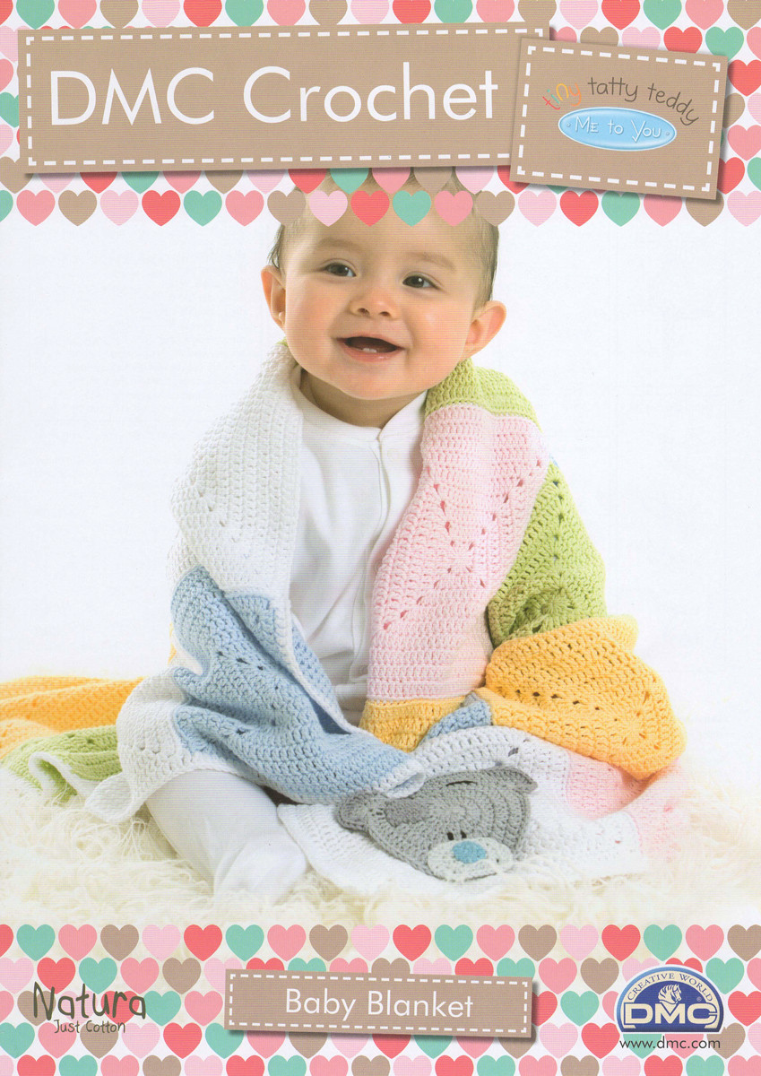 Tatty Teddy Baby Blanket 4 Ply Crochet Pattern Dmc Natura