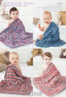 Blanket 4 Ply Crochet Pattern | Sirdar Snuggly 1488