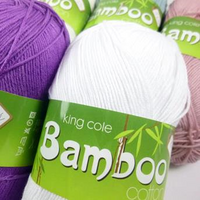 King Cole Bamboo Cotton 4 Ply Knitting Yarn | Various Colours
