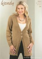 Long Ladies Cardigan Pattern |  Wendy Celeste 5921