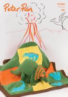 Dinosaur blanket and dinosaur in Peter Pan Dk