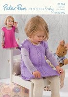 Pattern for Pinafore dress and leggings - Peter Pan Dk and 4ply