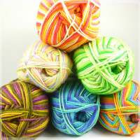 A lovely bunch of West Yorkshire Spinners Aire DK balls in the new cocktail range of colours