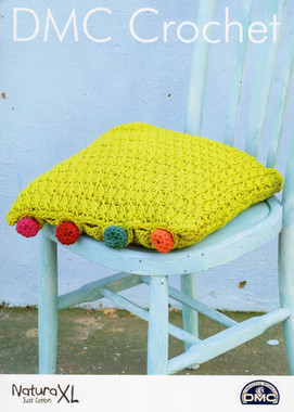Crochet pattern for a Cushion with Crochet buttons - DMC Natura XL
