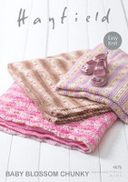 Chunky Blanket pattern for children - Hayfield Baby Blossom Chunky 4676
