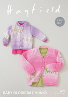 Chunky Pattern for childrens cardigans - Hayfield Baby Blossom Chunky 4677