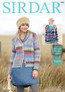 Chunky Pattern for Ladies Cardigan in Sirdar Aura Chunky | 7885 - Main Image