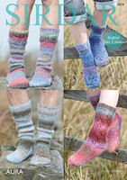 Pattern for chunky socks using Sirdar Aura