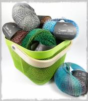 A basket full of Debbie Bliss Luxury Sock Yarn | Main Image