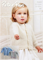 Baby & Childs Round and V neck Cardigan Patterns | Peter Pan Petite Fleur DK 1279