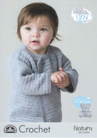 Tiny Tatty Teddy Baby & Childs Crocheted Cardigan Pattern | DMC Natura Just Cotton