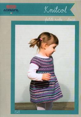 Baby & Childs Dress Knitting Pattern   Adriafil Knitcol 1548 - Main Image