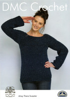 Fisherman's Friend Sweater Crochet Pattern | DMC Natura Cotton Denim