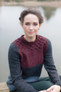 Rowan Cashmere Tweed Dk - Braid Jumper Close up