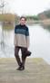 Rowan Cashmere Tweed Dk - Lang 3 colour fishermans jumper pattern