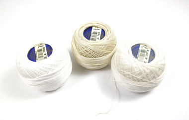 DMC Cordonnet Crochet Cotton - Spools of the three shades