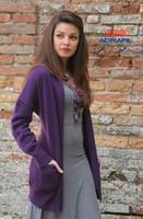 Long Ladies Cardigan Knitting Pattern (FLORA)   Adriafil Avantgarde - Free Downloadable Knitting Pattern 49, Main Image