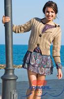 Topazio Jacket / Cardigan Knitting Pattern   Adriafil Duo Comfort   Free Downloadable Pattern - Main image