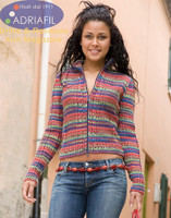 Gaudi Jacket Knitting Pattern using Adriafil Knitcol Yarn | Free Downloadable Pattern - Main image