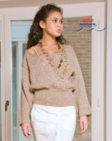 Campigil Pullover / Jacket Knitting Pattern using Adriafil Lana Naturale Inca | Free Downloadable Knitting Pattern - Main image