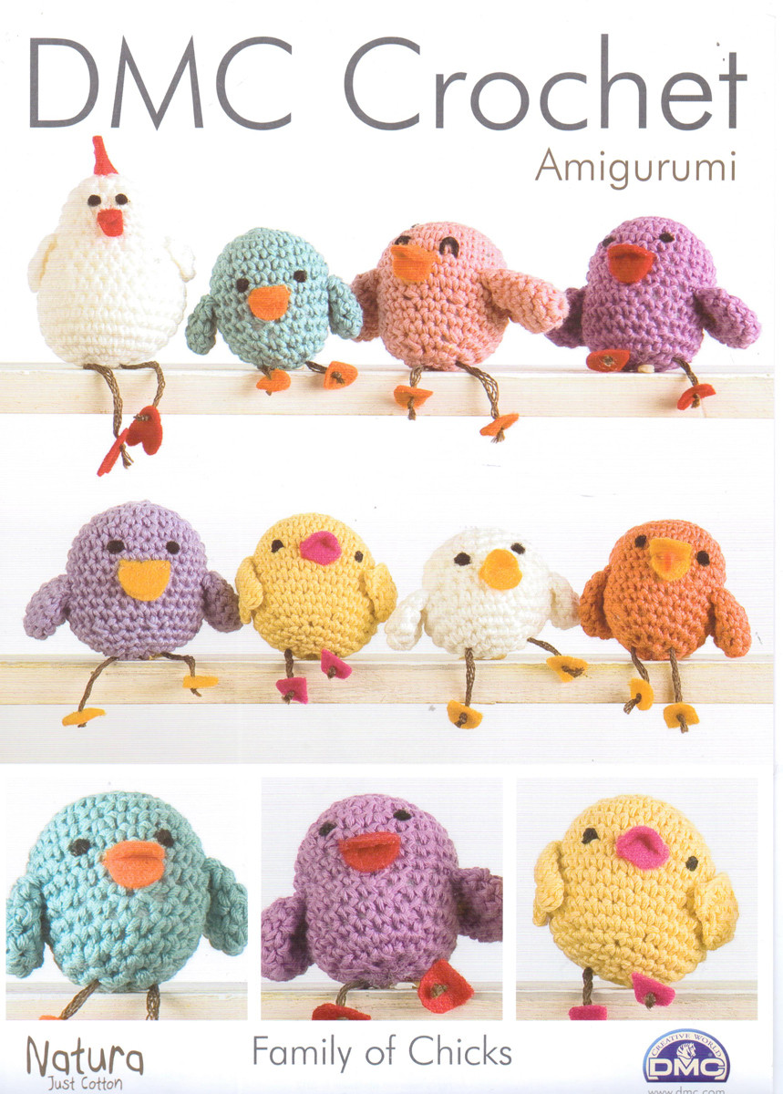 Family Of Chicks Patterns Dmc Crochet Natura Cotton Outback Yarns