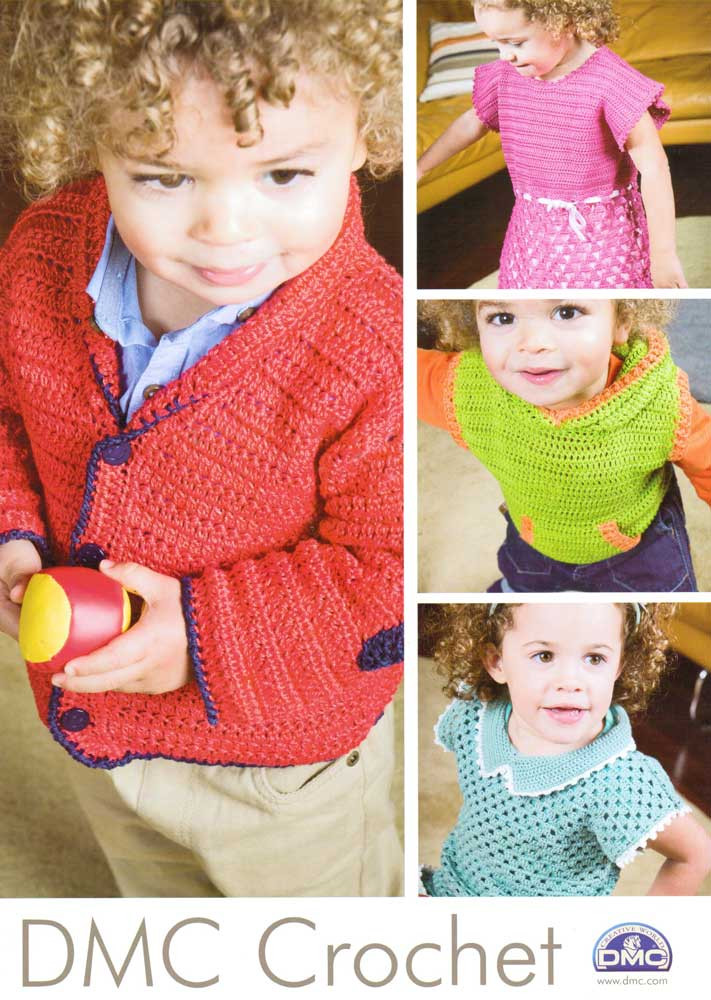 Childrens Wear Crochet Knitting Pattern Dmc Petra Crochet Cotton