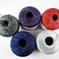 Adriafil Odeon Lame 4 Ply Knitting Yarn, 25g Balls | Various Shades
