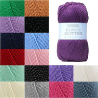 Sirdar Hayfield Bonus Glitter DK Knitting Yarn in 100g Balls | Various Colours