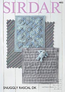 Three Baby Blanket patterns in Sirdar Rascal DK - 4802