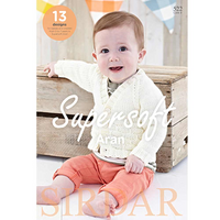 Sirdar Supersoft Aran Book 522 - 13 designs for babies and children from 0 - 7 years